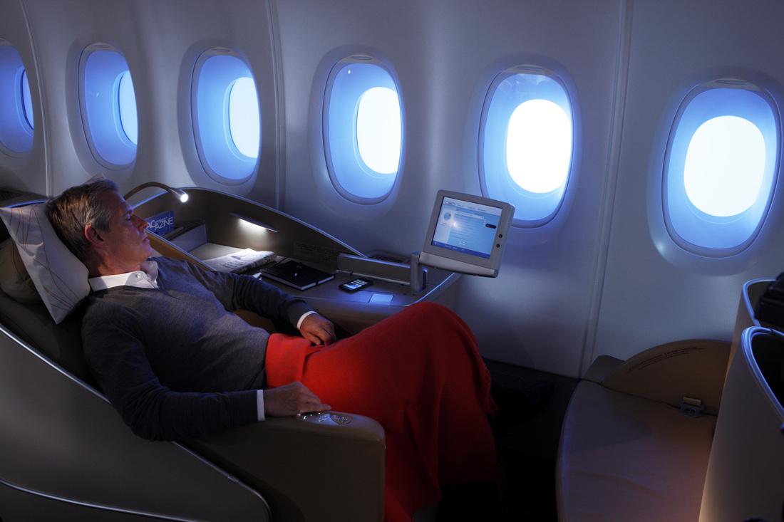 Air france business class welcome to mature traveller for A380 air france interieur